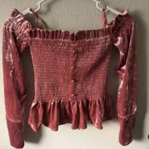 Greyson Tops - Greyson Night Out Ruched Crop Top Pink S NWT